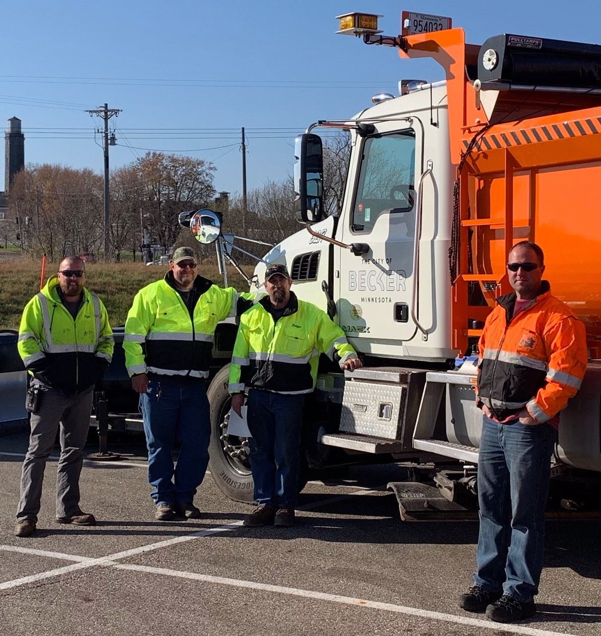 Streets Department Snow Plow Training Picture