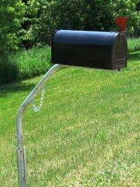 Complete Pic of Mail box with swing away post